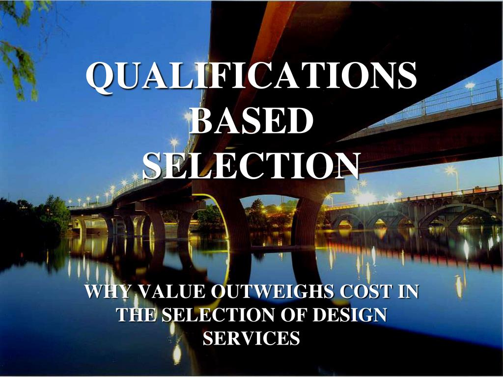 qualifications based selection l.