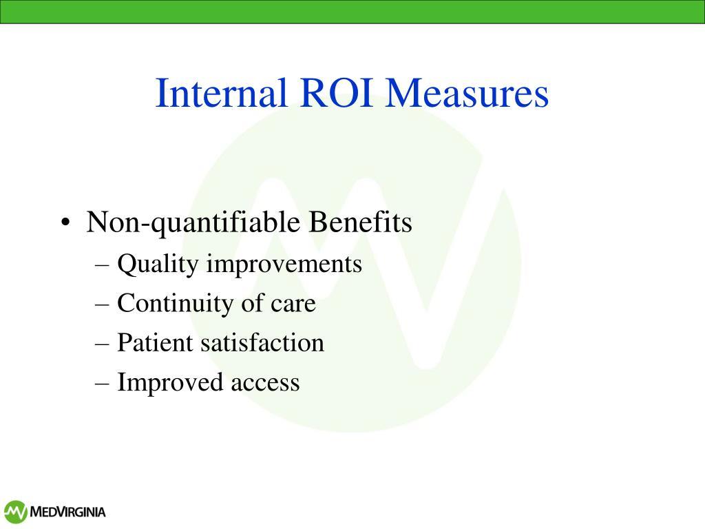 Internal ROI Measures