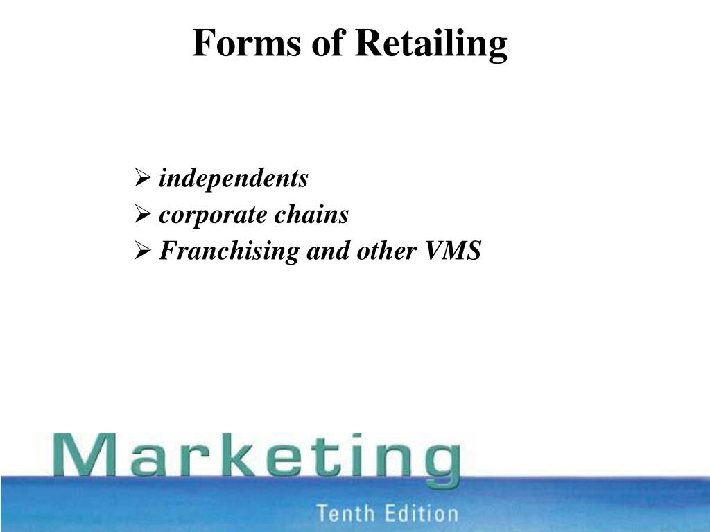 Forms of Retailing