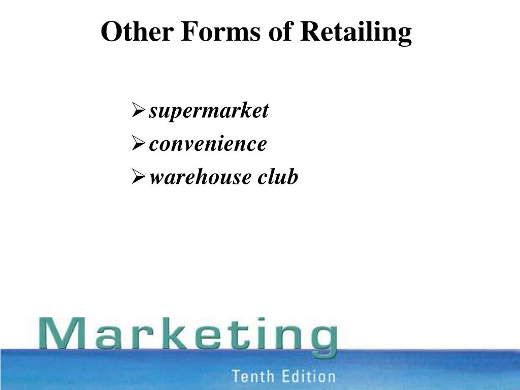 Other Forms of Retailing