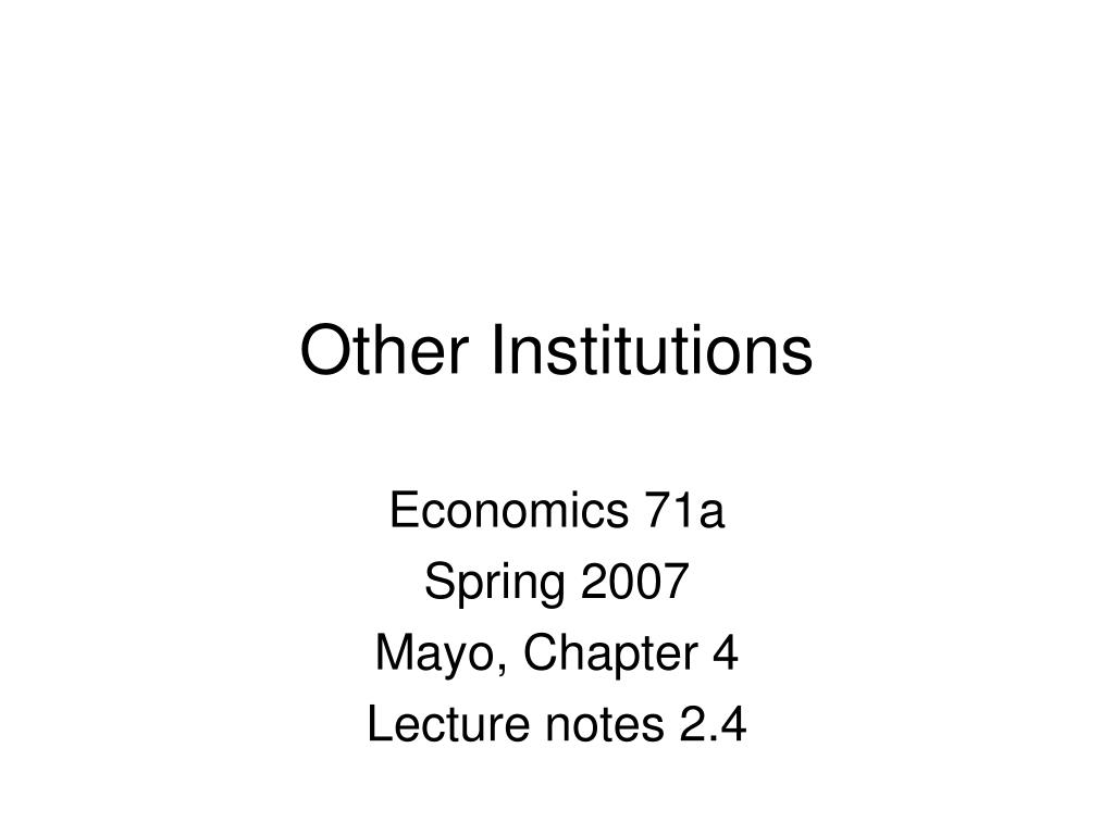 other institutions l.