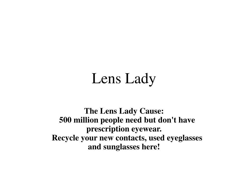lens lady l.
