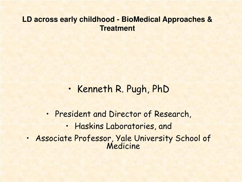 ld across early childhood biomedical approaches treatment l.