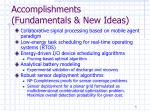 accomplishments fundamentals new ideas