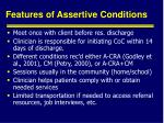 features of assertive conditions