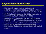 why study continuity of care