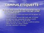 campus etiquette