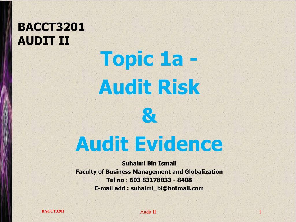 bacct3201 audit ii l.