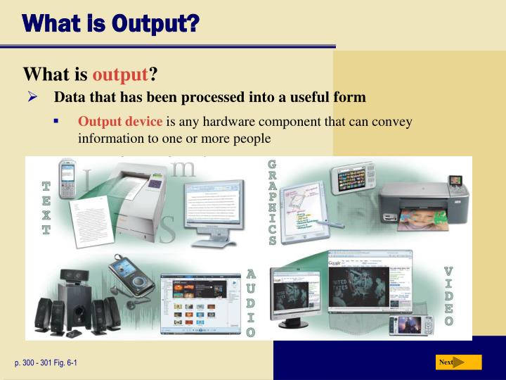 What is output