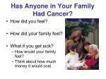 has anyone in your family had cancer