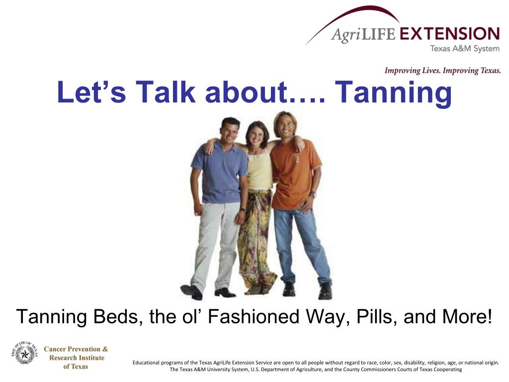 let s talk about tanning