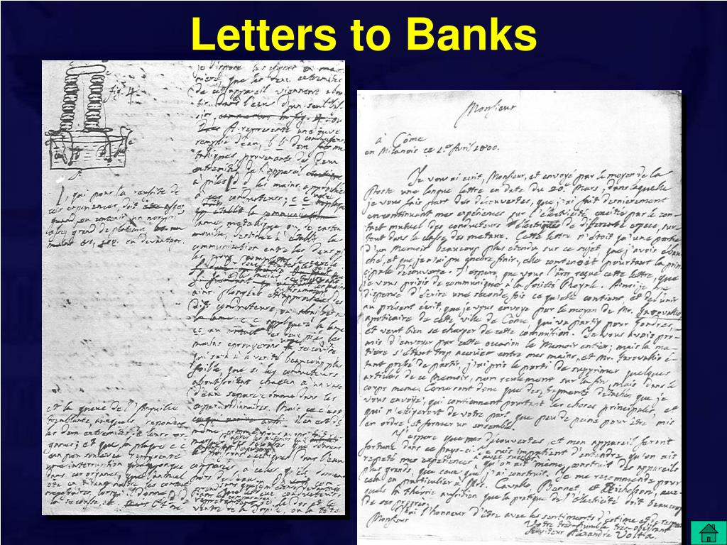Letters to Banks