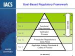 goal based regulatory framework