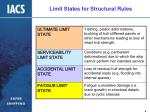limit states for structural rules
