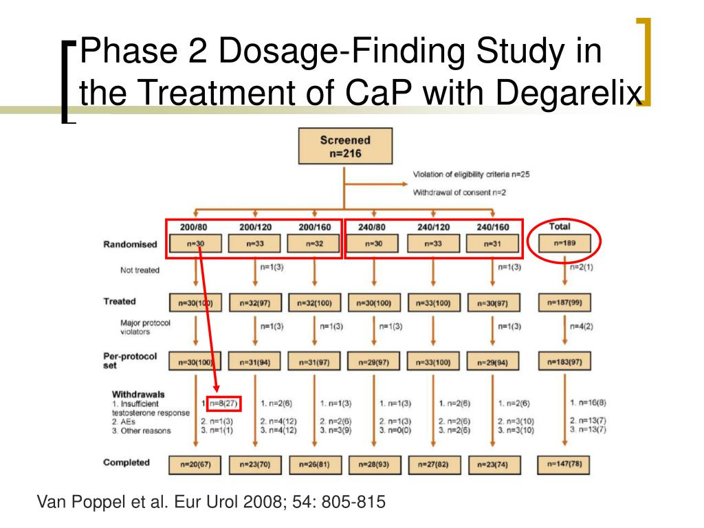 Phase 2 Dosage-Finding Study in the Treatment of CaP with Degarelix