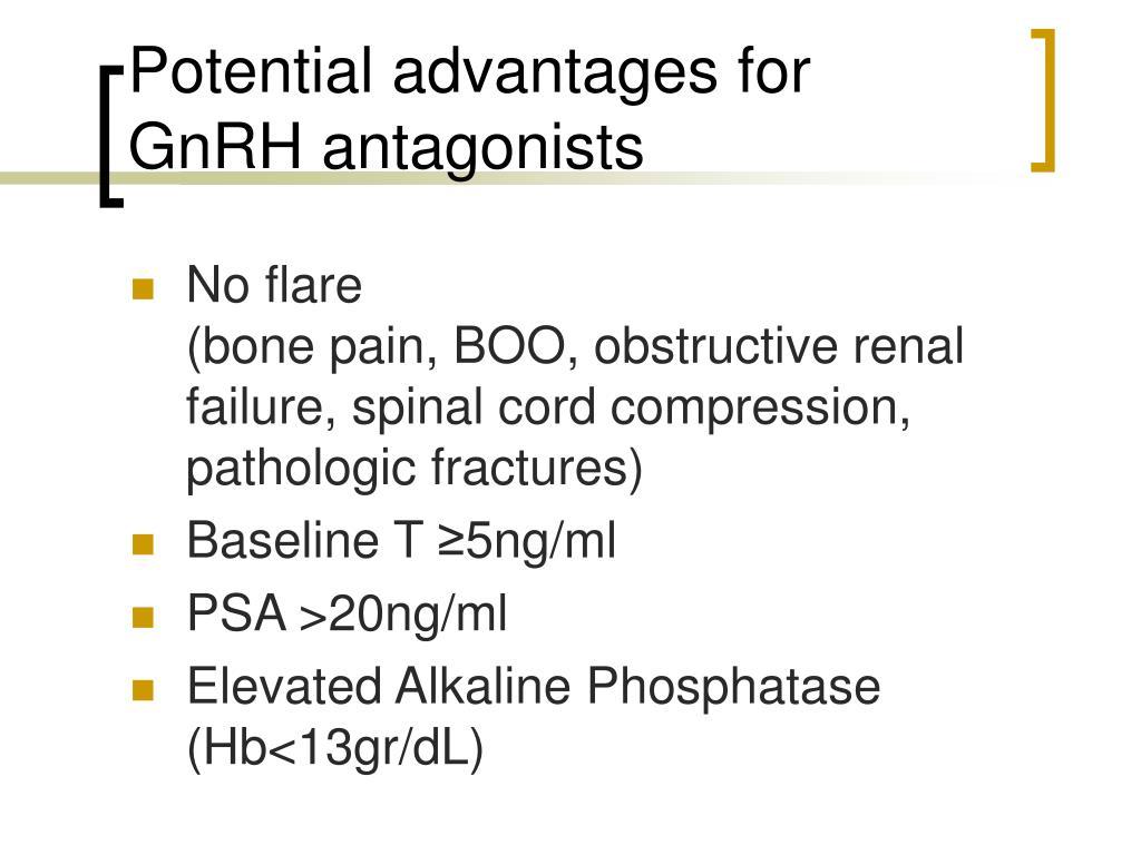 Potential advantages for GnRH antagonists