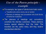 use of the pareto principle example
