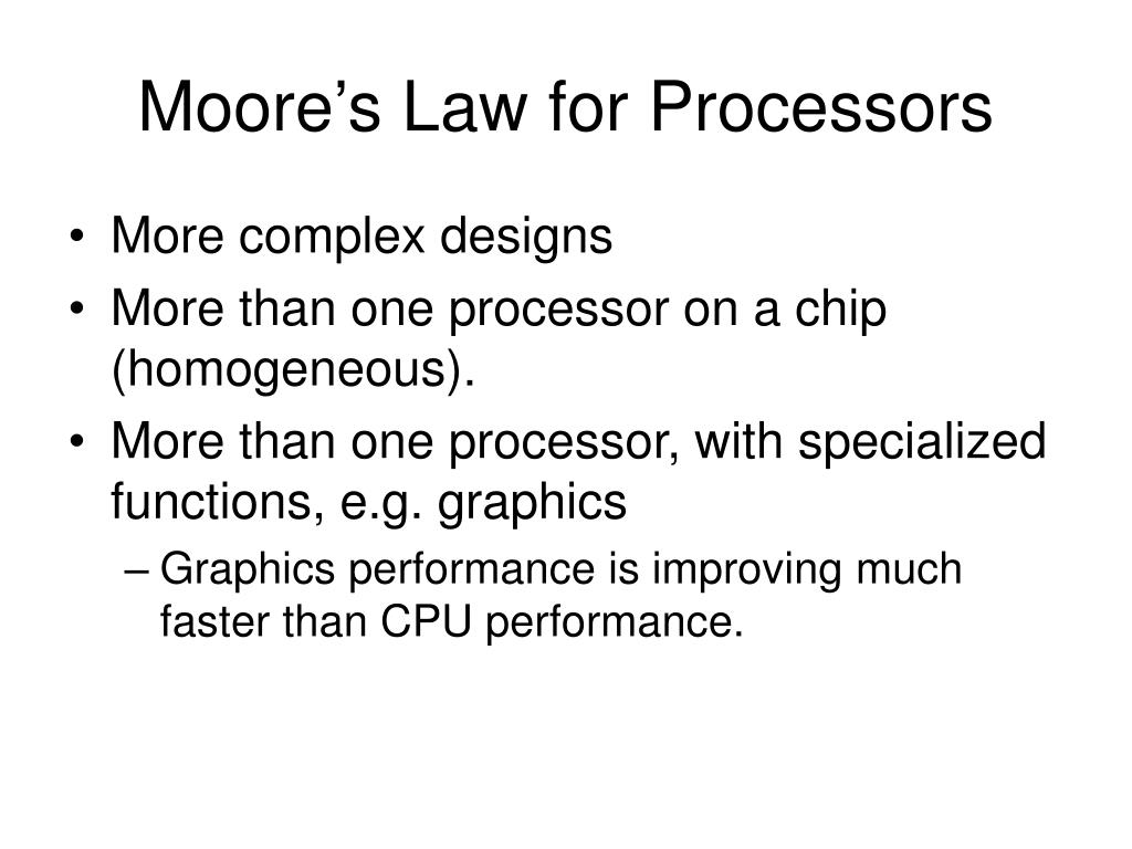 Moore's Law for Processors