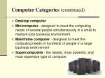 computer categories continued
