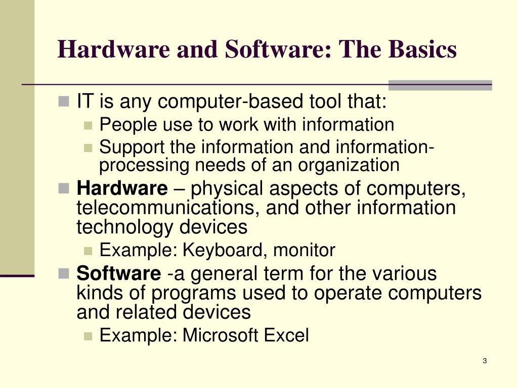 Hardware and Software: The Basics