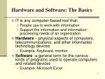 hardware and software the basics