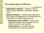 two main types of software