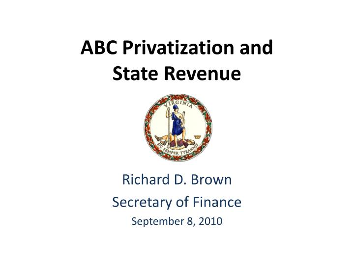 abc privatization and state revenue n.