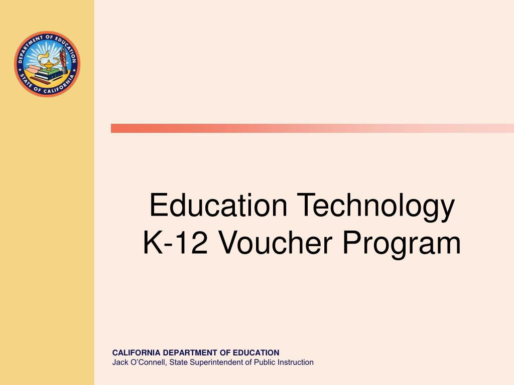 education technology k 12 voucher program l.