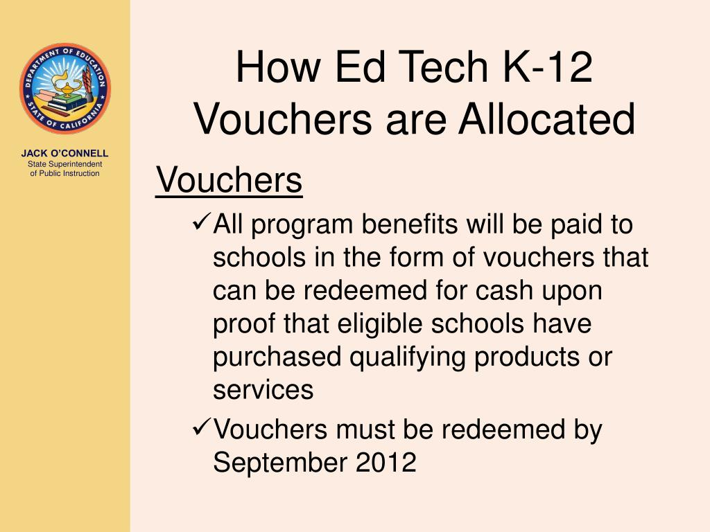 How Ed Tech K-12 Vouchers are Allocated
