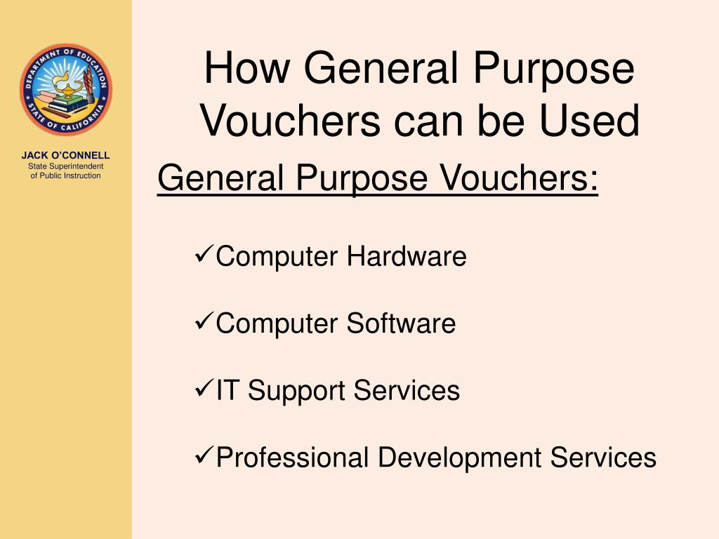 How General Purpose Vouchers can be Used