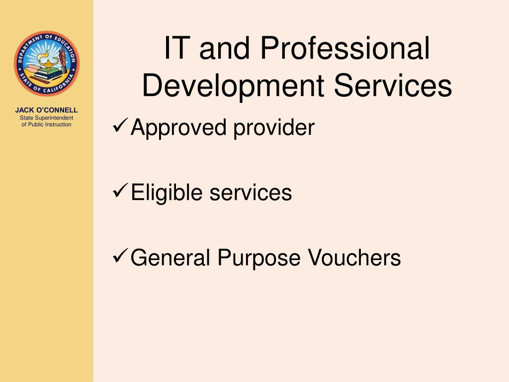 IT and Professional Development Services