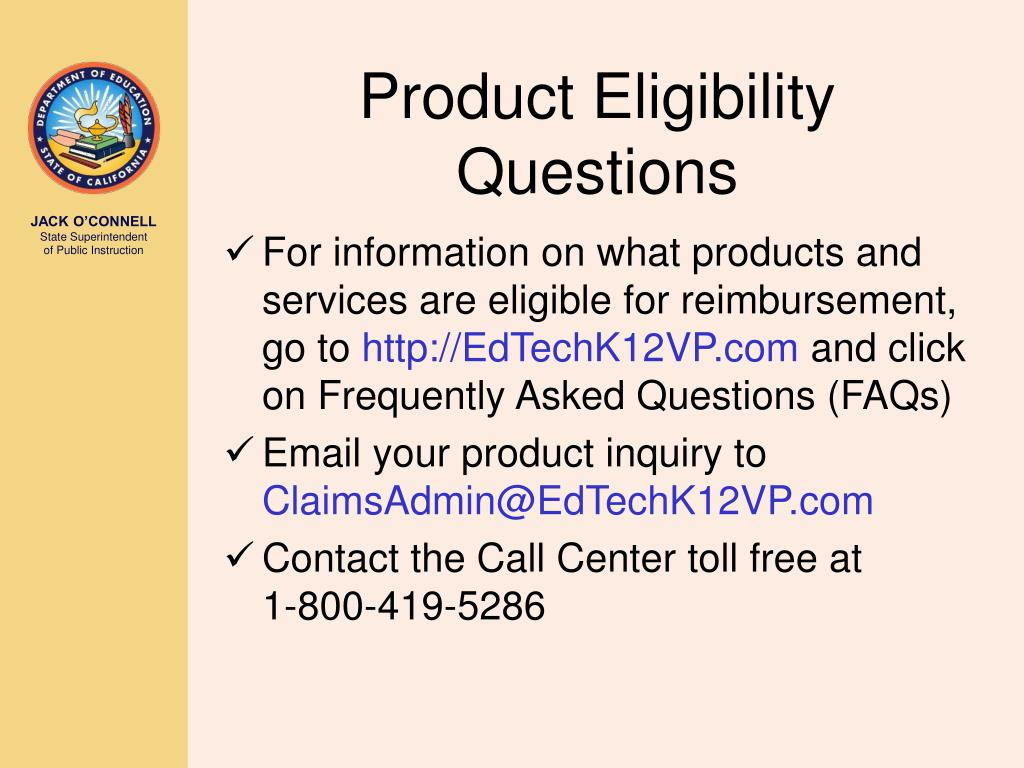 Product Eligibility Questions