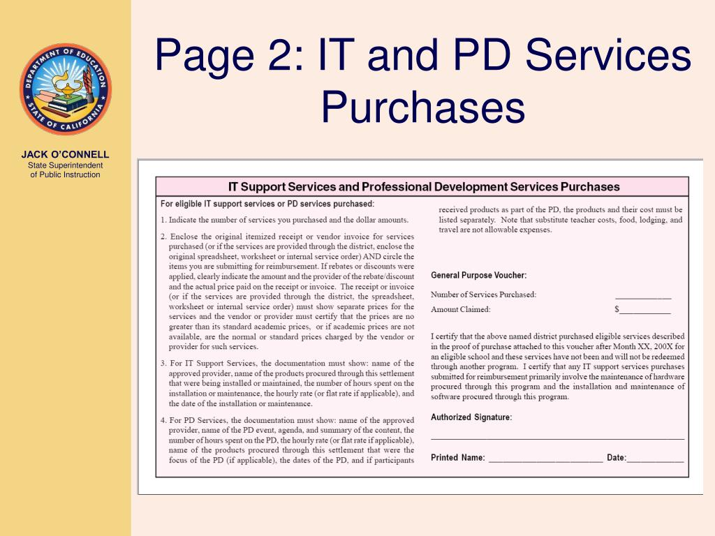 Page 2: IT and PD Services Purchases
