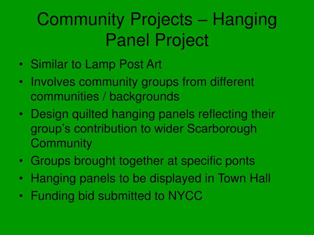 Community Projects – Hanging Panel Project