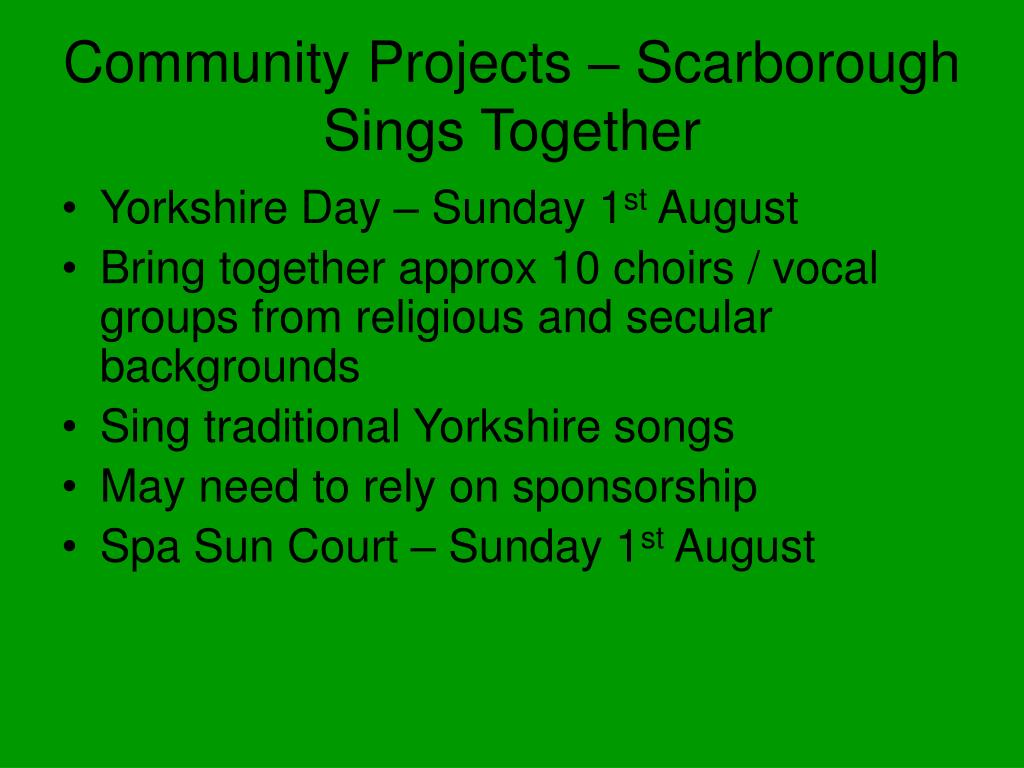 Community Projects – Scarborough Sings Together