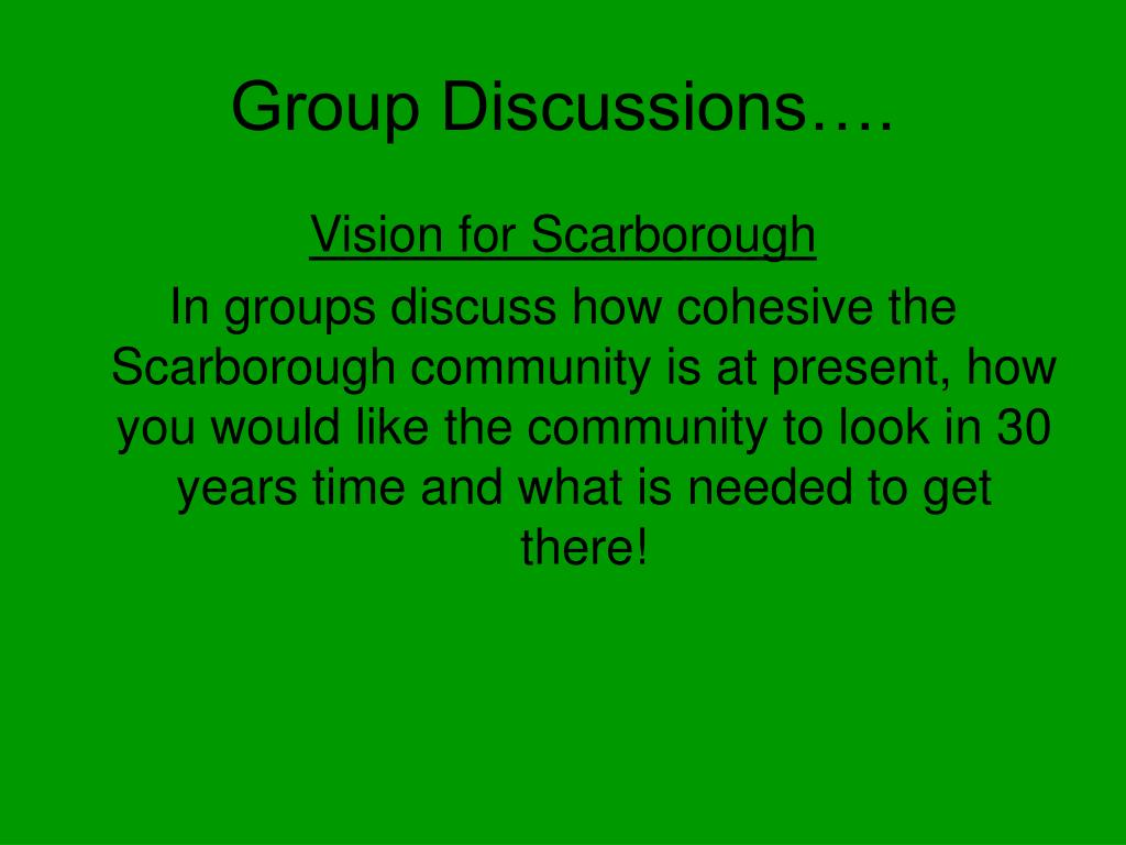 Group Discussions….