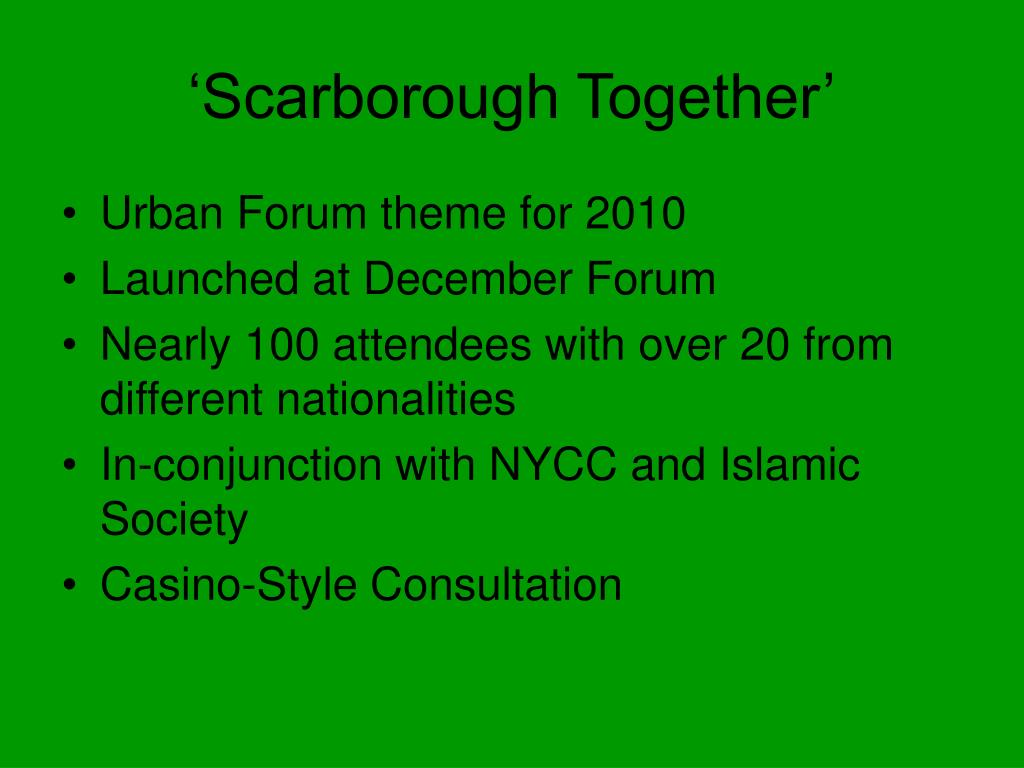 'Scarborough Together'