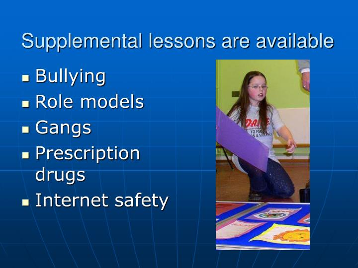 Supplemental lessons are available