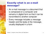 exactly what is an e mail message
