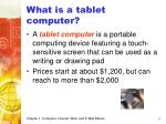 what is a tablet computer