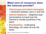 what sort of resources does the internet provide36