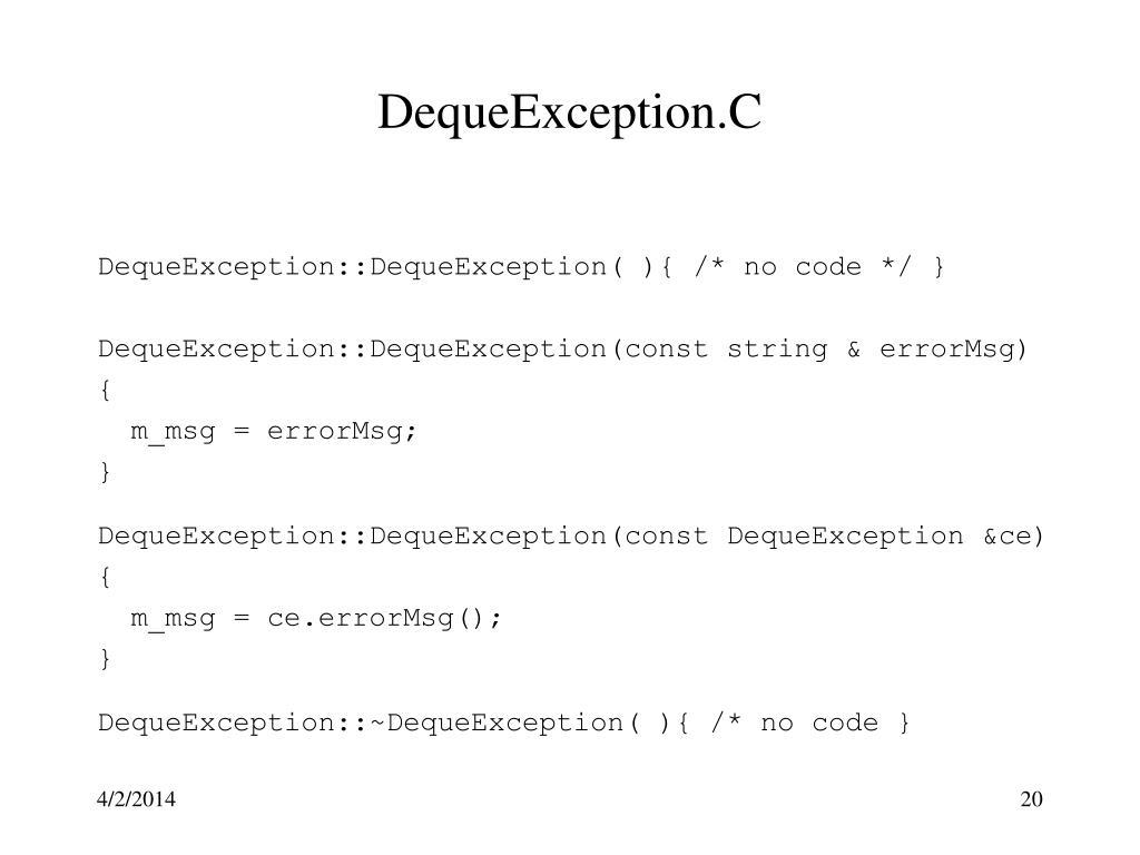 DequeException.C