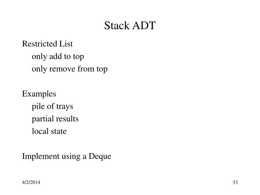 Stack ADT
