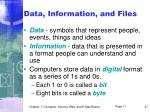 data information and files