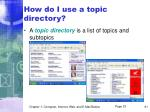 how do i use a topic directory