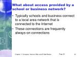 what about access provided by a school or business network