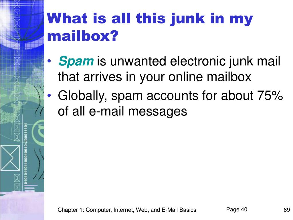 What is all this junk in my mailbox?