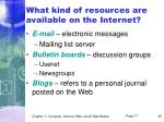 what kind of resources are available on the internet35