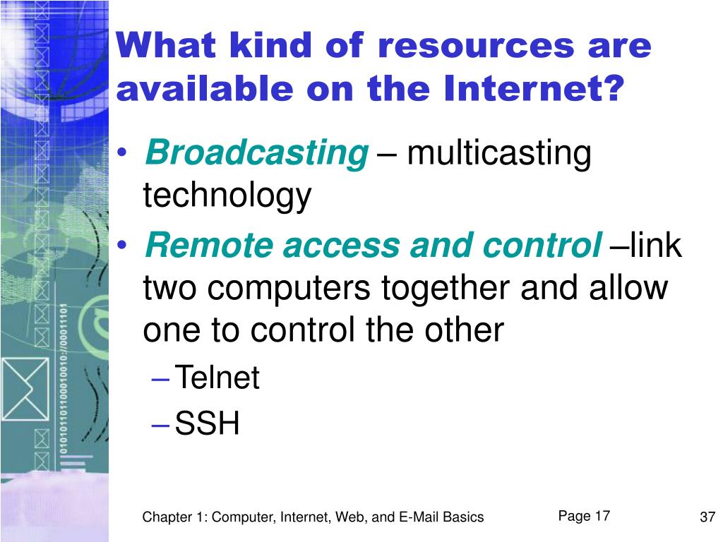 What kind of resources are available on the Internet?