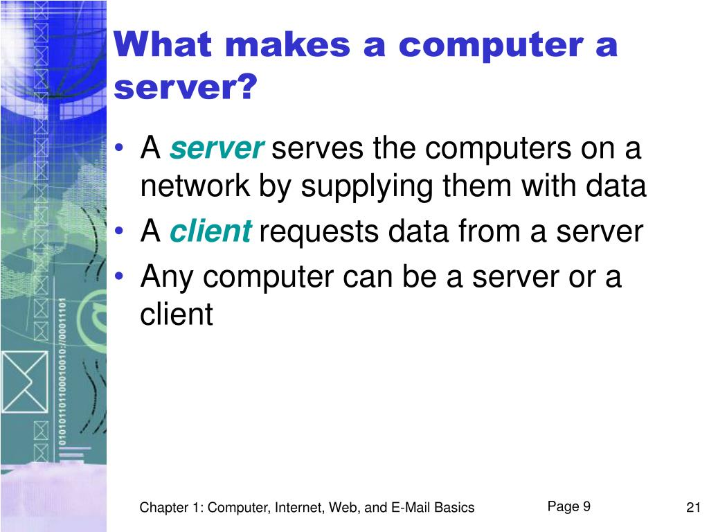 What makes a computer a server?